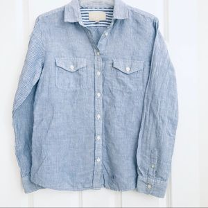 Banana Republic Soft Wash Button Down Size M